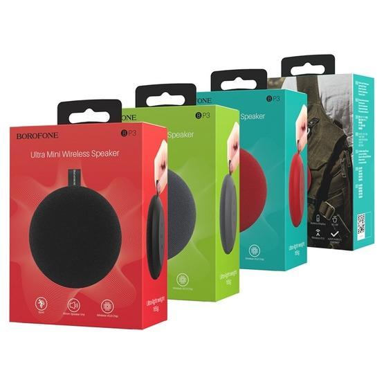 Borofone BP3 Pulsate Sports Bluetooth V5.0 Wireless Speaker Outdoor Sound Box (Red)