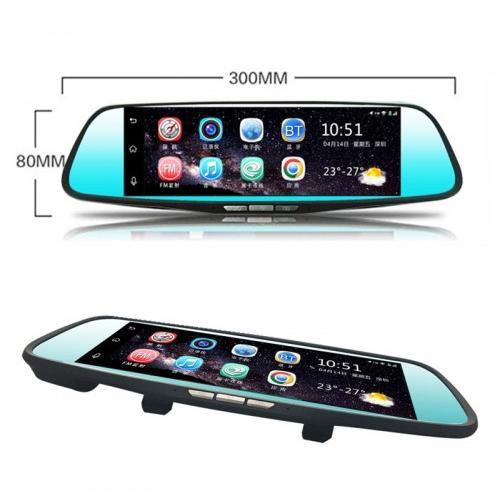 Car DVR - D98 8 inch Full HD 1080P Multi-functional Dual Lens