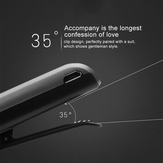 F910 CSR4.1 Retractable Cable Caller Vibration Reminder Anti-theft Bluetooth Headset (Black)