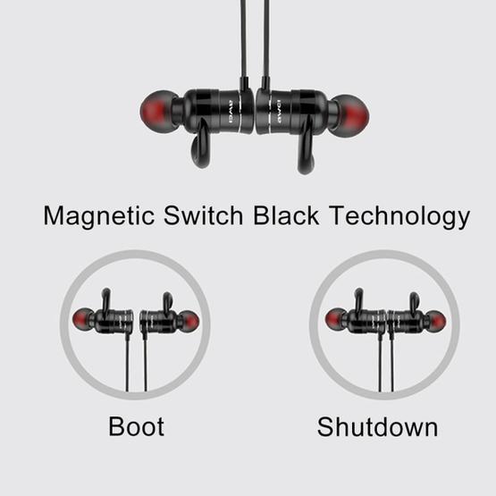 AWEI AK5 Sports Waterproof Wireless Bluetooth In-ear Headphone with Mic(Gold)
