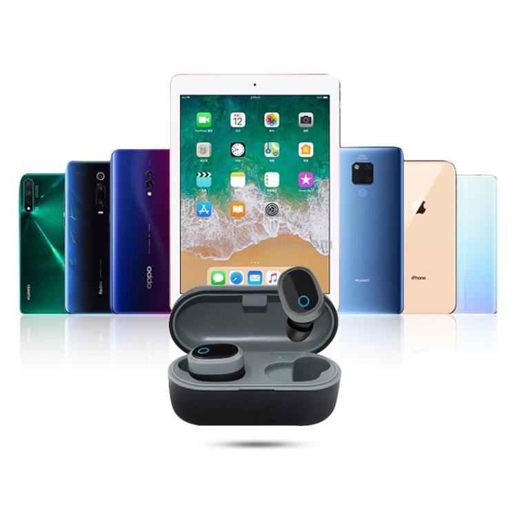 TWS-1003 Bluetooth 5.0 Semi-in-ear Design Wireless Bluetooth Earphone (Black)