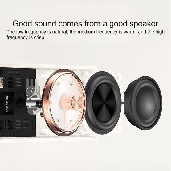 3life-322 4W 5V / 1A Mini Retro High Fidelity Stereo Car Subwoofer Wireless Bluetooth Speaker (White)