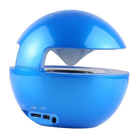 BT-118 Mini Wireless Bluetooth Speaker with Breathing Light (Blue)