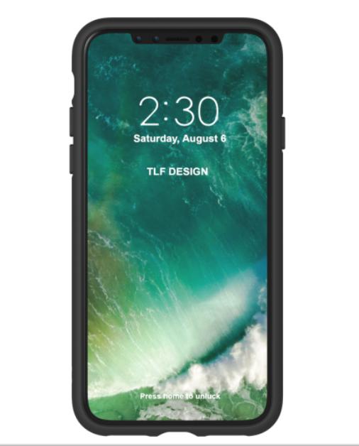 Adidas iPhone X Moulded Back Phone Case Black-White