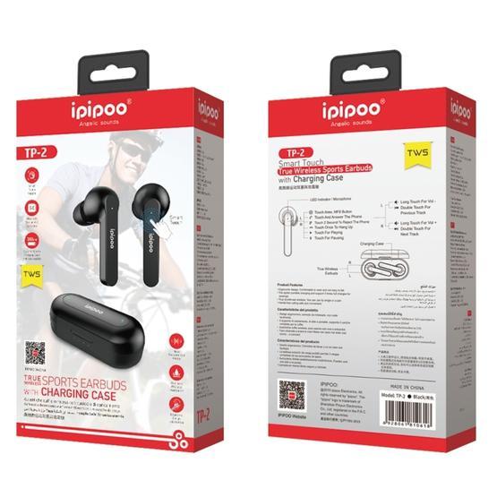 ipipoo TP-2 TWS Bluetooth V5.0 Headset(Black)