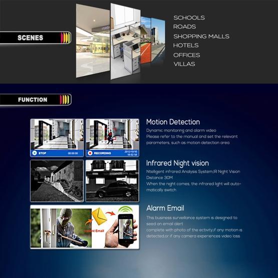 COTIER TV-635bH2/IP POE H.264 2MP(1080P) POE IP Camera Video Surveillance (White)