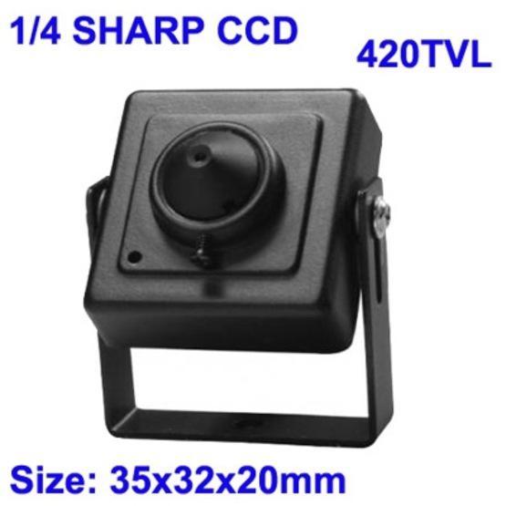 1/4 SHARP Color 420TVL Mini CCD Camera with Audio Function