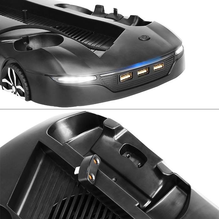 Host Machine Holder Dissipate Heat Charging Base for PS4 Pro / Slim(Black)