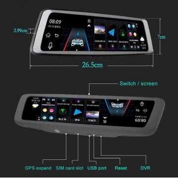 Car DVR - K950 1080P Multi-functional ADAS Dual Lens