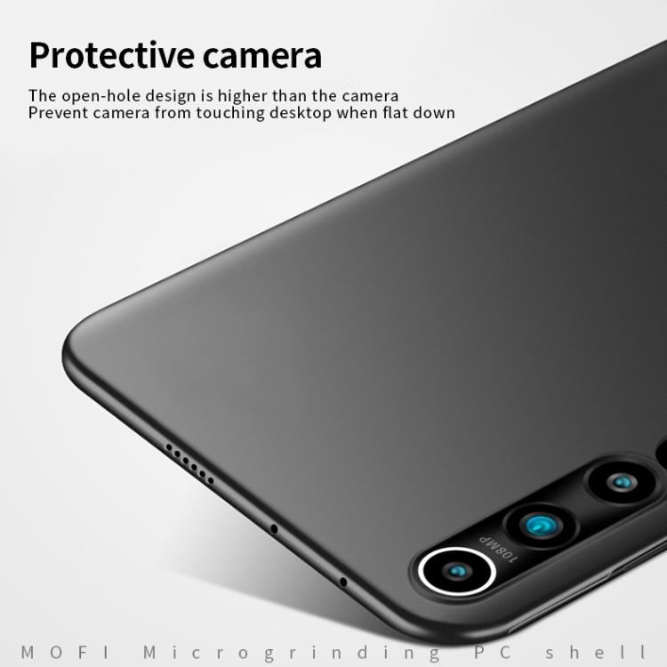MOFI Frosted PC Ultra-thin Hard Case for Xiaomi Mi 10 (Black)