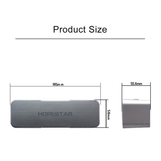 HOPESTAR H13 Mini Portable Rabbit Wireless Bluetooth Speaker (Silver)