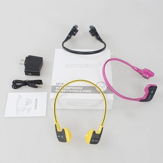 Bone Conduction Headphone Swimming Teaching Bluetooth Headphone (Purple)