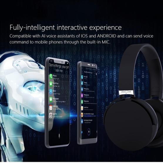 JAKCOM BH2 Wireless Headphones Smart Bluetooth V4.1 Headset with Microphone (Black)