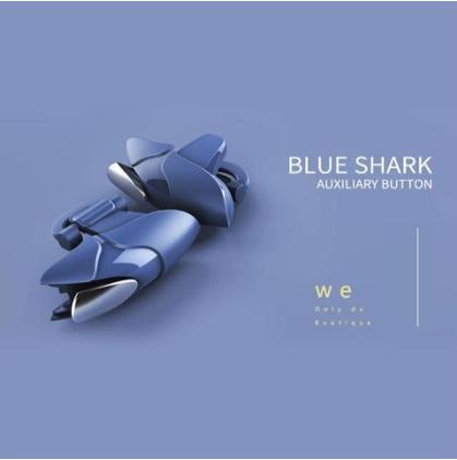 Blue Shark Shark Eat Chicken Game Auxiliary Handle(blue)