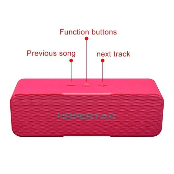 HOPESTAR H13 Mini Portable Rabbit Wireless Bluetooth Speaker (Magenta)