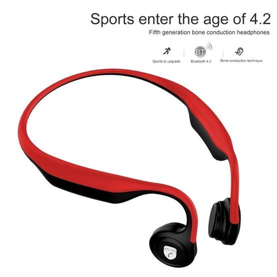 ES-368 Rear Hanging Bone Conduction Bluetooth 4.2 Waterproof Sports Headset(Red)