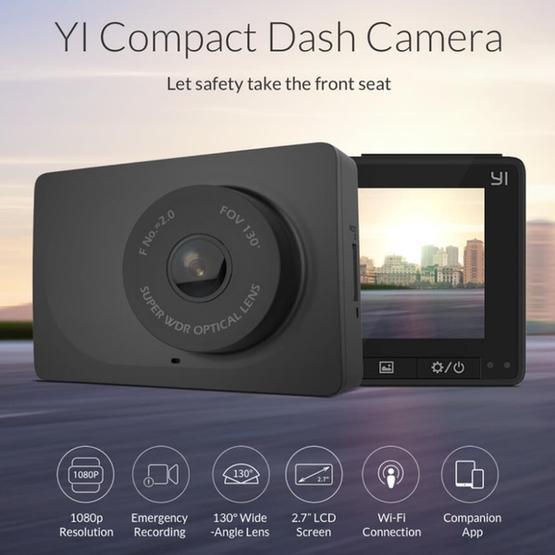 Car DVR - Original for Xiaomi Xiao YI Compact Dash Camera, 2.7 inch TFT LCD Screen