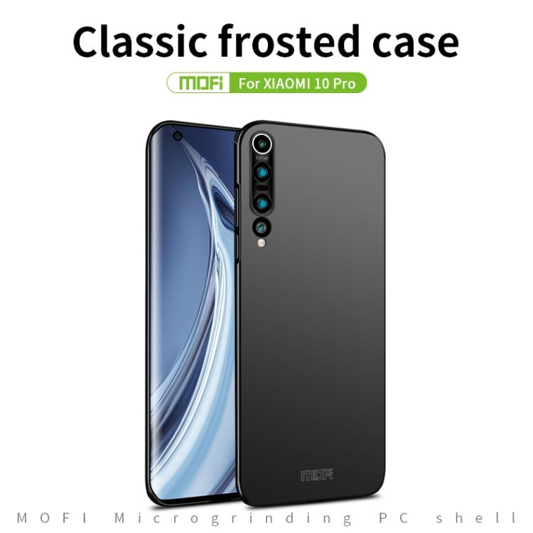 MOFI Frosted PC Ultra-thin Hard Case for Xiaomi Mi 10 Pro (Black)