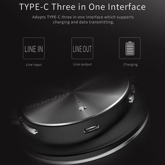 Bluedio T4 Turbine Over-ear Wireless Bluetooth 4.2 Stereo Headphones with Mic (Black)
