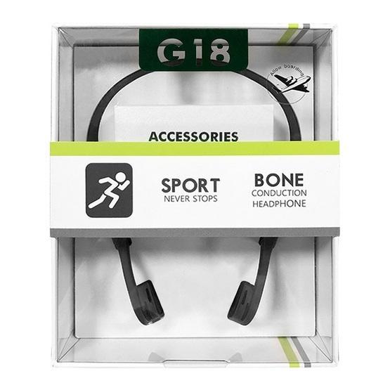G18S Bone Conduction Hanging Ear Motion Biaural Bluetooth 5.0 Wireless Headset(Grey)