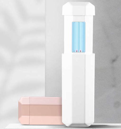 Telescopic UV LED Light Sterilizer Disinfection Stick Lamp (Pink)