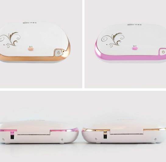 Mini Portable UV Sterile Machine Portable Ozone Disinfection Box Personal Care (Gold)