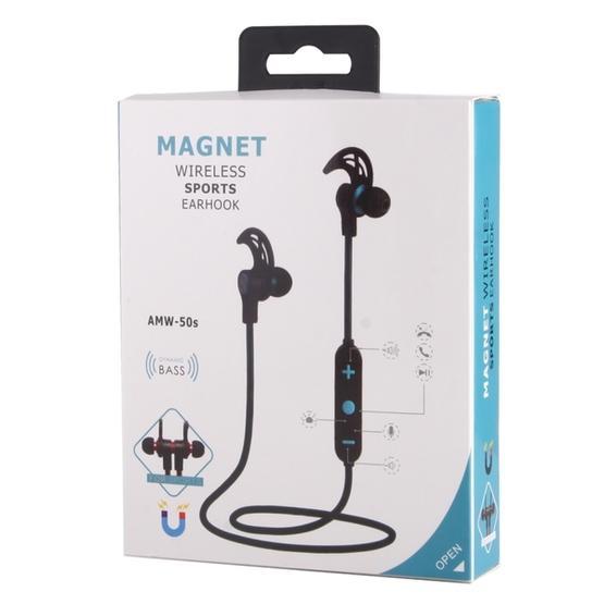 AMW-50s  Magnetic Wireless Bluetooth In-Ear Headphone (Purple)