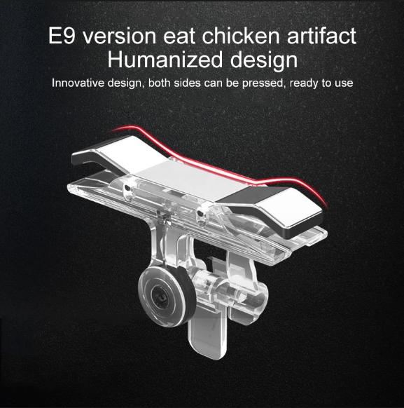 E9 Alloy Press Eat Chicken Mobile Phone Trigger Shooting Controller Button Handle (Silver)
