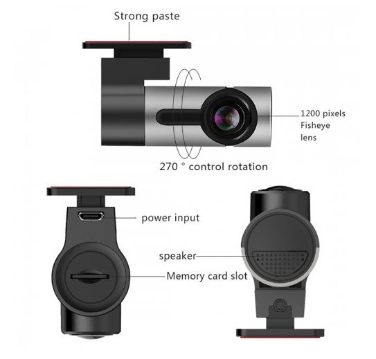 Car DVR - G6 170 Degrees Wide Angle Full HD 1080P (Black)
