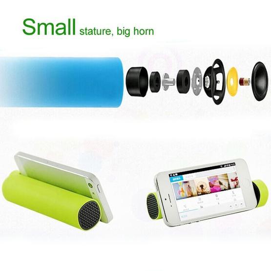3 in 1 4000mAh Power Bank + Smartphone Stand + Speaker (Magenta)