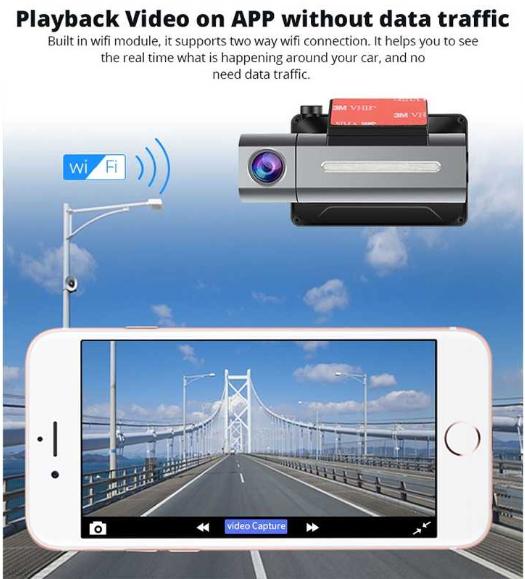 Car DVR - 3 inch 140 Degrees Wide Angle Mini Full HD 1080P 3G