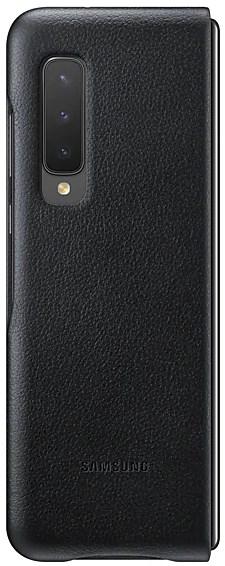 Samsung Galaxy Fold Leather Cover Black