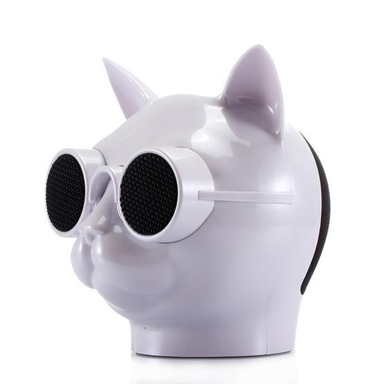 Mini Cat Shape Stereo Wireless Bluetooth Speaker (White)