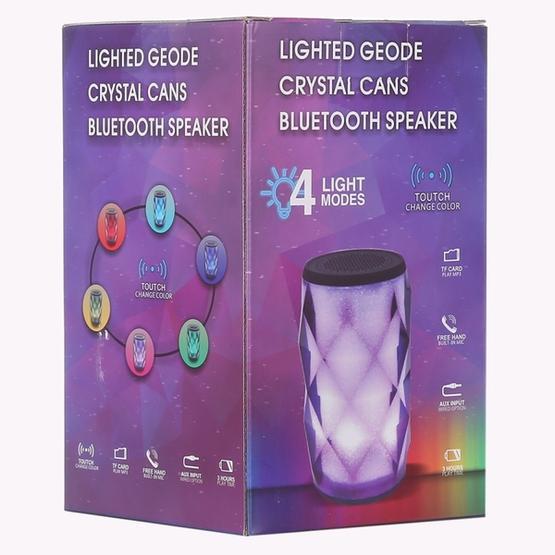 3W Lighted Geode Crystal Can Bluetooth Speaker(Black)