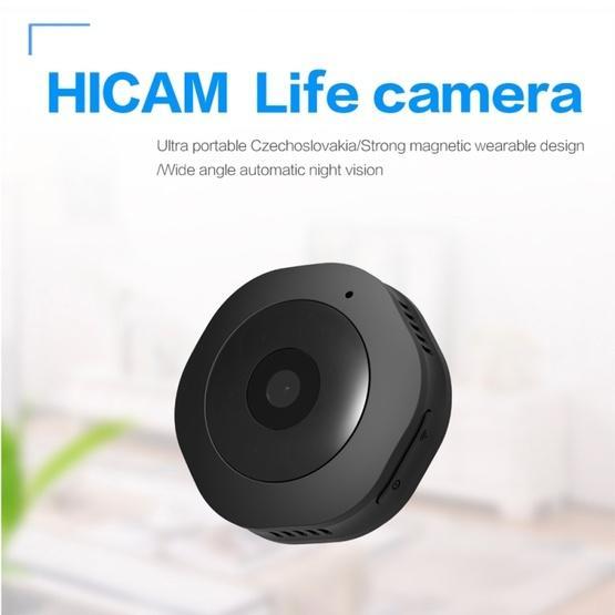 H6 Mini Wearable Smart Wireless WiFi Surveillance Camera (Black)