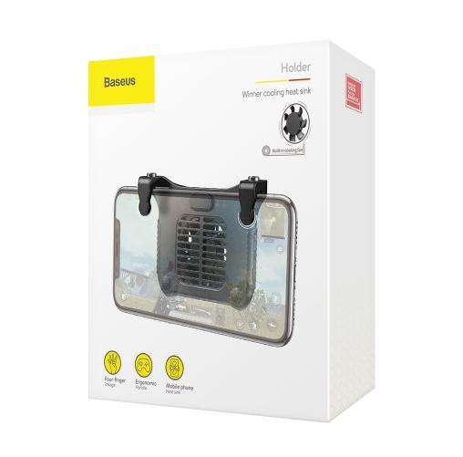 Baseus SUCJLF-01 Chicken Dinner Mobile Phone Gaming Winner Cooling Heat Sink, Built-in Cooling Fan(Black)