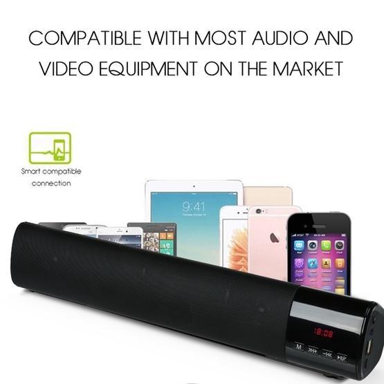 TOPROAD High Power 10W HIFI Portable Wireless Bluetooth Speaker(Black)