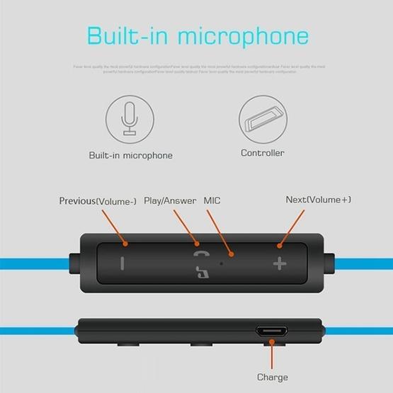 BTH-H5 Stereo Sound Quality V4.1 + EDR Bluetooth Headphone (Blue)
