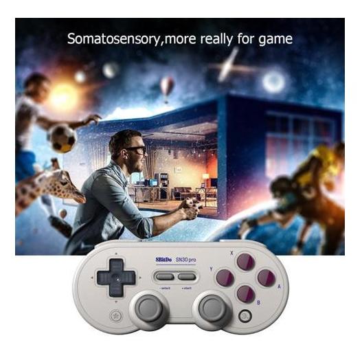8Bitdo SN30ProG Retro Wireless Bluetooth Controller Gamepad (Grey)