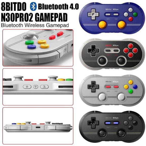 8Bitdo N30Pro2 Bluetooth Wireless Gamepad Game Controller (Black)