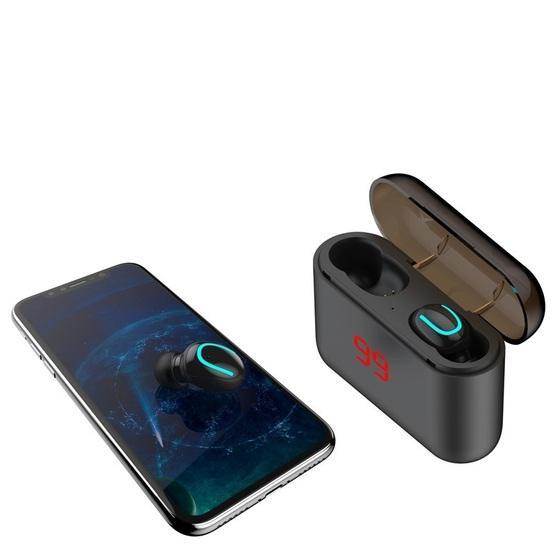HBQ-Q32 TWS Bluetooth 5.0 Binaural Stereo Wireless Sports Bluetooth Earphone with Charging Box & Digital Display