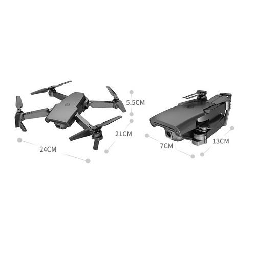 Mini Foldable Aerial Drone HD Aircraft (Light Black) - Version 4K