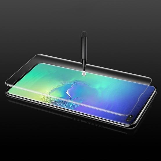 UV Liquid Curved Full Glue Tempered Glass for Galaxy S10 Plus, Support Fingerprint Unlock