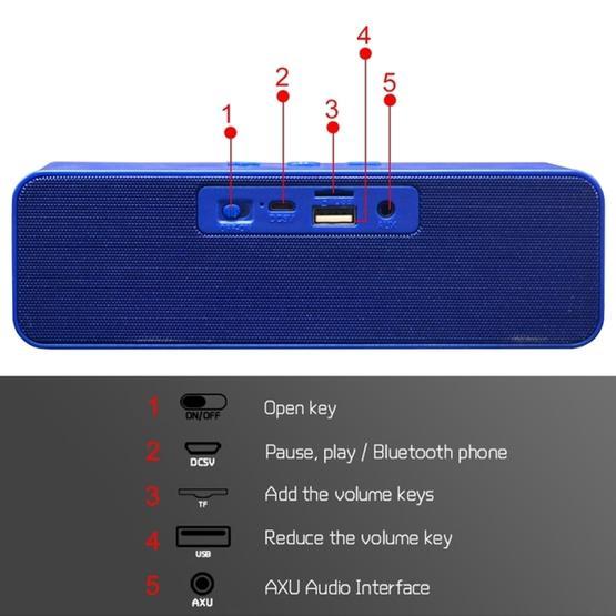 HOPESTAR H13 Mini Portable Rabbit Wireless Bluetooth Speaker (Blue)