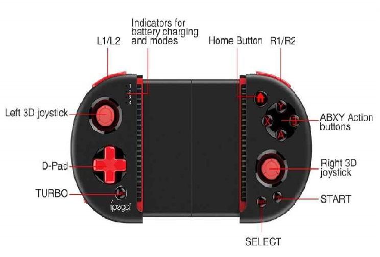 ipega PG-9087 Bluetooth Game Controller Gamepad with Practical Stretch Joystick Pad