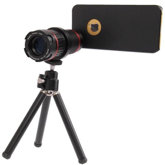 Khama 4-12X Zoom Mobile Phone Telephoto Lense for iPhone 5 & 5S(Black)