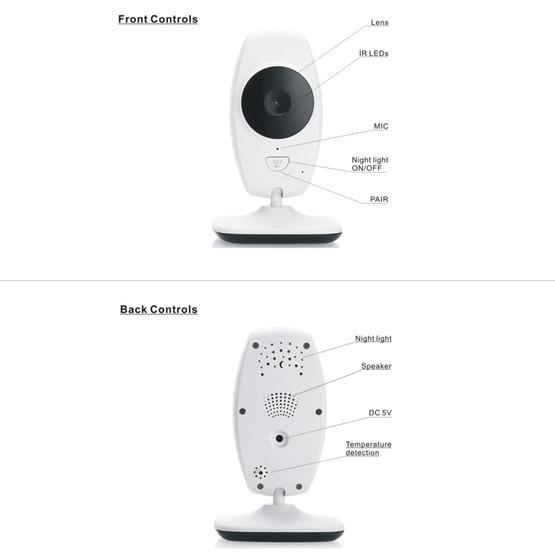 7Inch Larger Screen Display Wireless Digital Monitoring Camera Baby Career Monitor Wireless Baby Monitor SP870 - EU Plug