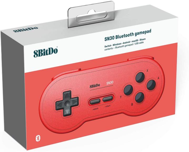 8BitDo SN30 Wireless Bluetooth Controller (Red)