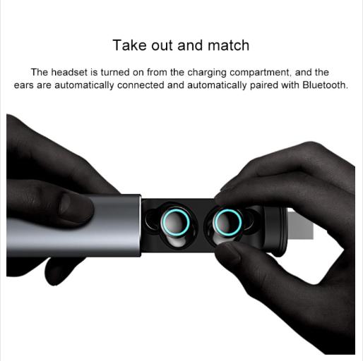 S5 Twins Sports Magnetic Ear-in Bluetooth V5.0 Wireless Earphones (Black)