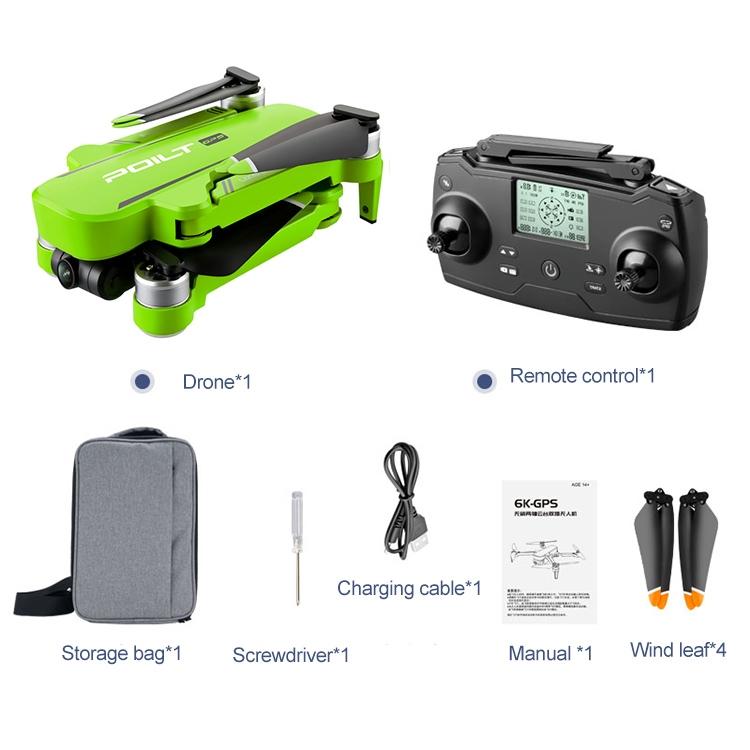 JJR/C X17 6K-GPS Foldable Brushless 2-Axis Gimbal Dual Camera Aircraft (Green)